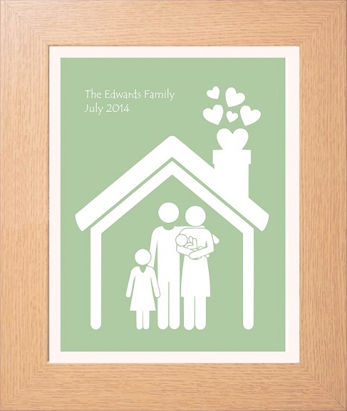 Personalised Home Is Where New Home Gift Print By: Personalised Family House Print